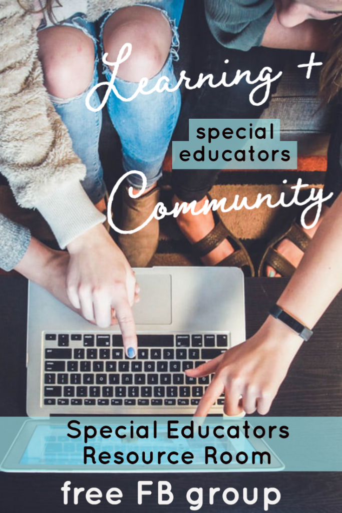 Special Educators Resource Room - join the free community and learn together with weekly videos on topics that impact our classrooms.