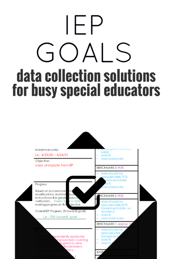 Data Collection Help for special educators