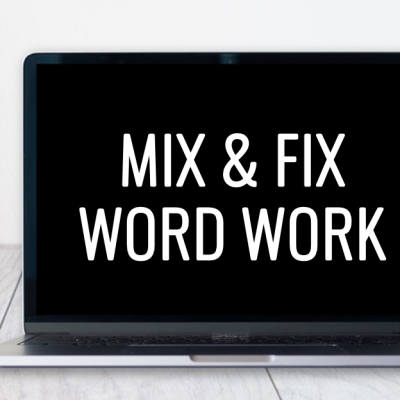 Mix and Fix Word Work
