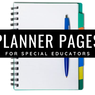 Planners for Special Educators