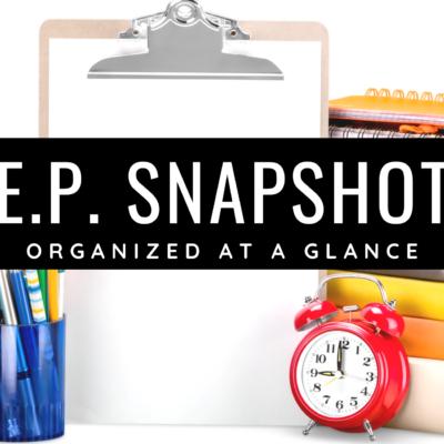I.E.P. Snapshot Template