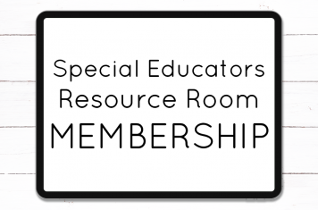 A support membership for special educators looking to get organized inside and outside the classroom! Special Educators Resource Room membership offers go-to systems and solutions.